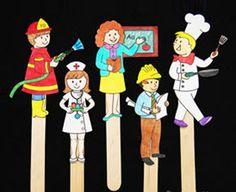 Community Helper Stick Puppets