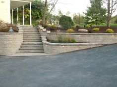 Front Entry Steps After Retaining and Landscape Wall Total Package Landscaping Services LLC Poughkeepsie, NY