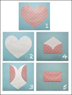 How to fold lovely heart envelope step by step DIY tutorial instructions 512x678 How to fold lovely heart envelope step by step DIY tutorial...