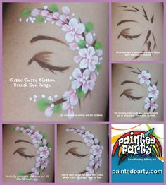 Classic double-dipped Cherry Blossom cluster.  Find other tutorials on my Youtube channel www.youtube.com/PaintedParty