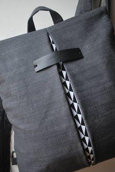 Convertible backpack Crossbody bag Denim Practical lightweight