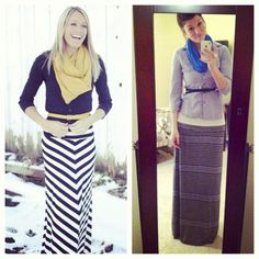 PINSPIRATION: maxi skirt outfit is perfectly comfy and costs LESS than the original SKIRT.