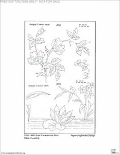 More flower embroidery patterns