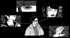 adventure game of cosmic horror inspired by the work of Junji Ito // keep it pale, Poland Junji Ito, Pixel Art, Cosmic, Horror, Darth Vader, Adventure, World, Twitter, Fictional Characters