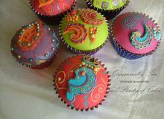 Mendhi cupcakes
