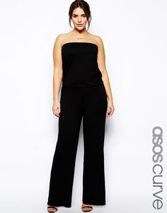 ASOS Curve | ASOS CURVE Bandeau Jumpsuit With Wide Leg at ASOS