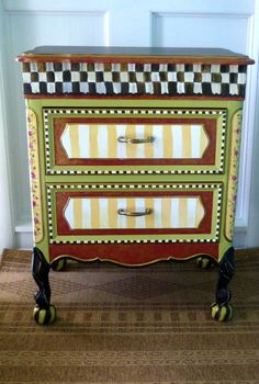 Painted Table - Custom - Hand Painted - Whimsical. $500.00 + $150.00 shipping, via Etsy.
