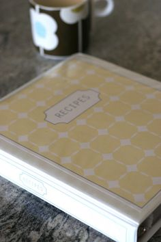 Organizational idea for recipe book