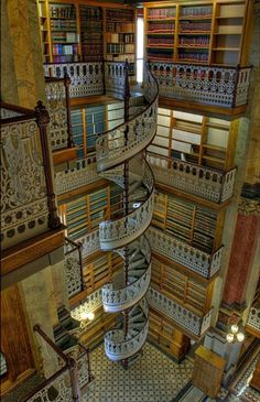 Spiral Staircases, love them. This one is the State Law Library, Iowa.