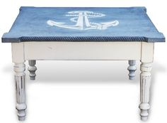 Nautical Anchor Coffee Table | Shop or DIY: http://www.completely-coastal.com/2016/03/nautical-anchor-coffee-table.html