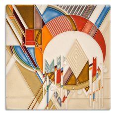 Frank Lloyd Wright Frozen Spheres Motawi Tile