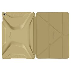 roocase Apple iPad Air 2 Origami 3D Case - Champagne Gold/Cool Gray (RC-Apl-AIR2-OG-SS-GD/CG)