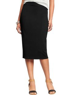 I would really love a jersey pencil skirt. At least one, but two in different colors or patterns would be good too. Women's Jersey Pencil Skirts Product Image