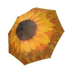 Sunflower Foldable Umbrella Coasters, Fashion Accessories, Rain, Bright, Gift Ideas, Yellow, My Style, Amazing, Flowers