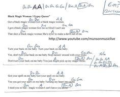 Black Magic Woman - Guitar Chord Chart