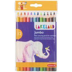 Lakeland kleurpotloden Jumbo, pak van 12 stuks in geassorteerde kleuren Pictures To Draw, Drawing Pictures, Vibrant Colors, Colours, Pencil Eraser, Coloured Pencils, Coloring For Kids, In Kindergarten, Color Splash