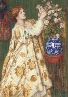 """""""Monna Rosa"""" by Dante Gabriel Rossetti (1867)."""