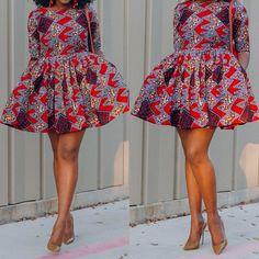 African Print Dresses, African Dress, Short Dresses, Summer Dresses, Ankara Dress, African Fabric, Ankara Styles, African Fashion, Pretty Kitty