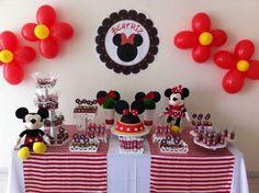 Decoração de festa infantil tema Mickey e Minnie. (Foto: Divulgação)