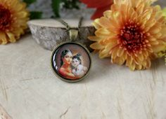 Mother Yasoda And Child Krishna Necklace Mother And by ArtHarmony