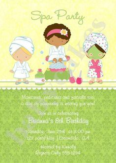 How cool...stumbled across Brianna's spa party invite! :)