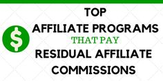 Recurring Affiliate Programs That Pay Residual Commissions Earn Money Online, Affiliate Marketing, Online Business, Digital Marketing, Learning, Link, Make Money Online, Earn Extra Money Online, Studying