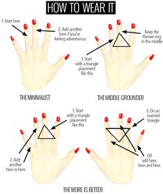 How to wear Knuckle / Midi rings Via