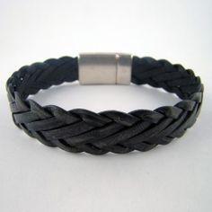 Bracelets de cuir tressés à plat : collection Dandy