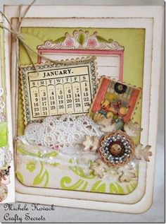 Free 2013 Vintage Calender :: plus page layout ideas on how to apply the vintage month vignettes.