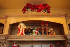 Style your cabinets with poinsettias and Santa