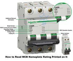 """MCB Data Nameplate rating. How to know about the rating of MCB. A simple tutorial to provide all the relevant information about the MCB rating and Data printed on it. MCB is very common protection device used in domestic and industrial application and most of us have tried to buy MCB. It is very important device, which is to be procured with care. But when we use to visit shops or take advice of our """"expert"""" electrician then in most of time, without any technical consideration they advise…"""
