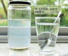 Lifestyle: De gezondheidsvoordelen van water met sole op een rijtje! Sole is een zoutwateroplossing van Keltisch zeezout. | It's a Food Life