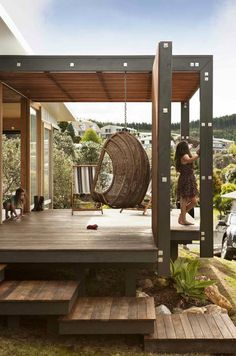 beach house in Onemana, New Zealand - a student project for 16 third-year architectural students, known collectively as Studio 19, at Unitec, overseen by Dave Strachan of Strachan Group Architects and Marshall Cook of Cook Sargisson & Pirie #patio #wood
