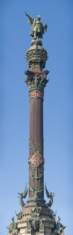 Columbus Monument ~ La Rambla, Barcelona, Spain.  Remember this from '87!