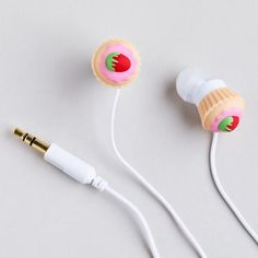 One of my favorite discoveries at WorldMarket.com: Cupcakes Earbuds