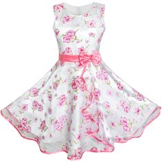 Sunny Fashion 3 Layers Girls Dress Pink Flower Wave Pageant Wedding Size 7-8. Size for Girls 7-8 Years. Chest:24.4'' Waist:23.6'' Length:28.7''. Polyester.