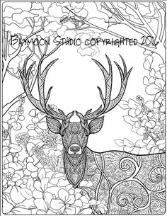 Deer in the Woods Coloring Page