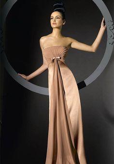 Elegant Brown Bridesmaid Dress