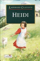HEIDI Ladybird Book Classics Series Gloss Hardback 1995 Green