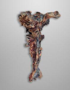 "Lucio Fontana (Rosario, 1899–1968, Varese) ""Crocifisso"" (""Christ on the Cross""), 1950–52 Glazed terracotta 49.8 x 31.4 x 12.7 cm Collection of Mr. and Mrs. J. Tomilson Hill © Fondazione Lucio Fontana, Milan Photo: Michael Bodycomb"
