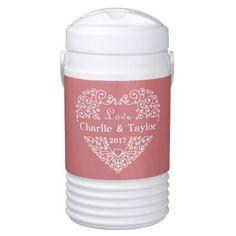 #bride - #Ornamental Heart custom text beverage coolers Cooler