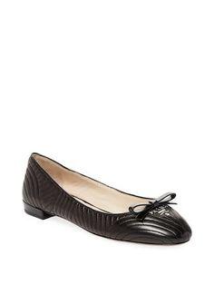 Ballet Flats Ballerina Shoes for Women On Sale, Black, Patent Leather, 2017, 5 6 Prada