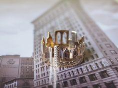 New York Cityscape Skyline Statement Ring Size 5 by Shekhtwoman