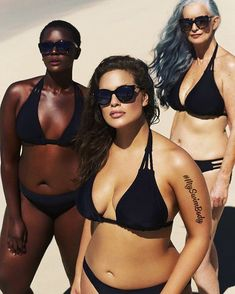 Sports Illustrated Swimsuit Issue model Ashley Graham is back for a brand new campaign for swimwear label Swimsuitsforall. The curvy beauty is joined by… Ashley Graham, Curvy Swimwear, Plus Size Swimwear, Philomena Kwao, Modelos Plus Size, Swimsuits For All, Sports Illustrated, Sexy Bikini, Role Models