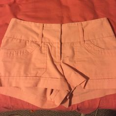 Coral pink shorts Coral pink denim shorts, size 0, perfect condition, bought from Charlotte Russe :) Charlotte Russe Shorts Jean Shorts