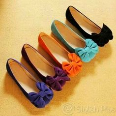 New Arrival Bowknot Round Head Black Flat Heels Cute Flats, Bow Flats, Bow Shoes, Cute Shoes, Me Too Shoes, Flat Shoes, Comfortable Flats, Shoe Clips, Kinds Of Shoes