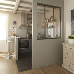 See what a small kitchen design is all about. Small Space Kitchen, Small Spaces, Home Staging, Style At Home, Interior Windows, Small Apartments, Cozy House, Home And Living, Home Fashion