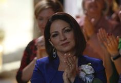 Pin for Later: Even If You Don't Watch Glee, Brittany and Santana's Wedding Will Warm Your Heart  Gloria Estefan guest stars as Santana's mother.