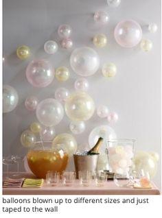 Ballonnen aan de muur