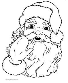 Santa - Christmas coloring pages - Lots of free printables